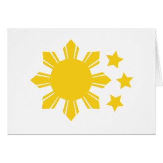 Carte Drapeau philippin - fier d'être Pinoy !