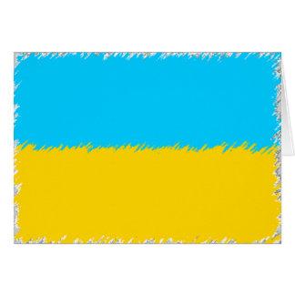 Carte Drapeau ukrainien