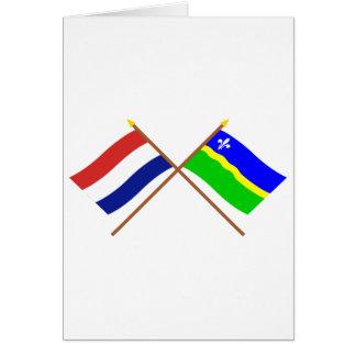 Carte Drapeaux croisés de la Hollande et du Flevoland