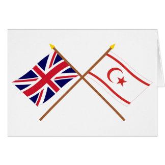 Carte Drapeaux croisés par Chypre BRITANNIQUES et du