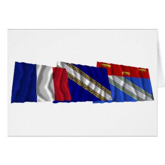 Carte Drapeaux d'Ardennes, de Champagne-Ardenne et de la