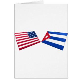 Carte Drapeaux des USA et du Cuba