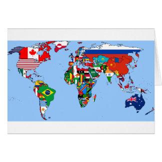 Carte Drapeaux du monde 2014
