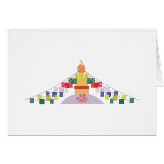 Carte Drapeaux tibétains de prière