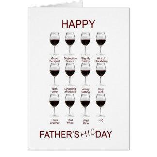 Carte drôle de fête des pères d'échantillon de vin
