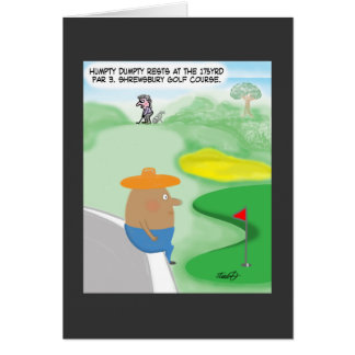 Carte drôle de golf