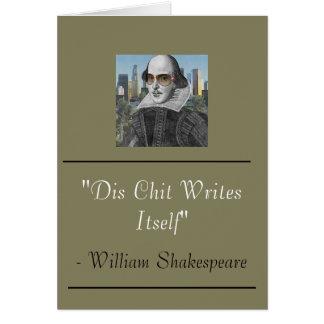 Carte drôle de William Shakespeare