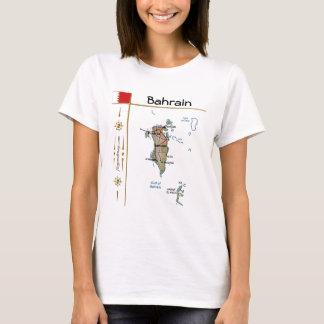 Carte du Bahrain + Drapeau + T-shirt de titre