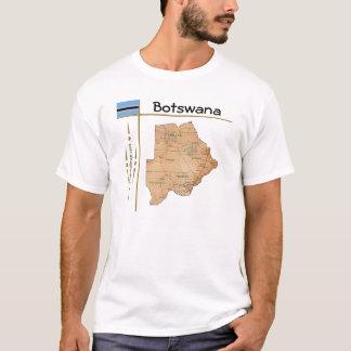Carte du Botswana + Drapeau + T-shirt de titre