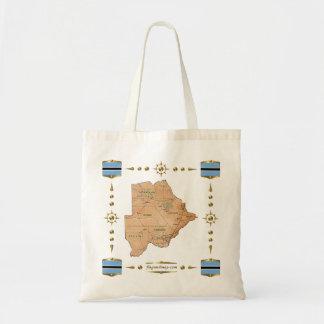 Carte du Botswana + Sac de drapeaux