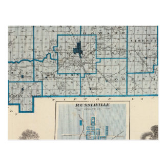 Carte du comté de Howard avec Russiaville