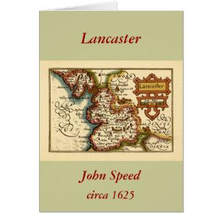"""Carte du comté de """"Lancaster"""" Lancashire"""