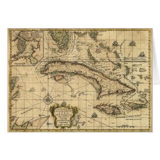 Carte du Cuba et des mers environnantes (1762)