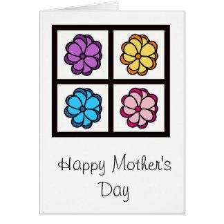 Carte du jour de mère - fleurs