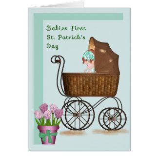 Carte du jour de premier St Patrick de bébés