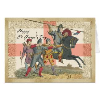 Carte du jour de St George, St George, chevalier