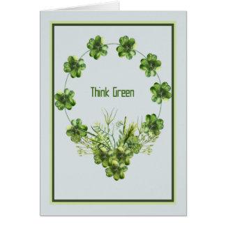 Carte du jour de St Patrick avec la guirlande de