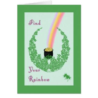 Carte du jour de St Patrick avec le pot de la