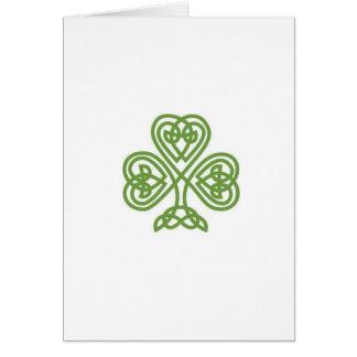 Carte du jour de St Patrick avec le sonnet