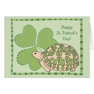 Carte du jour de St Patrick de tortue d'étoile