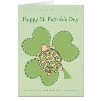 Carte du jour de St Patrick de tortue d'étoile de
