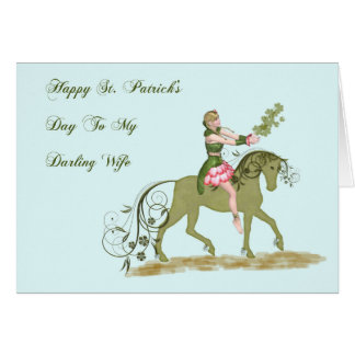 Carte du jour de St Patrick pour l'épouse