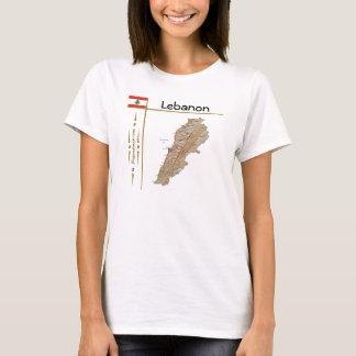 Carte du Liban + Drapeau + T-shirt de titre