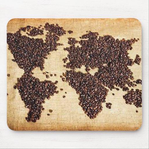 Carte du monde de healthycoffee en grains de caf tapis de - Tapis de souris personnalise belgique ...