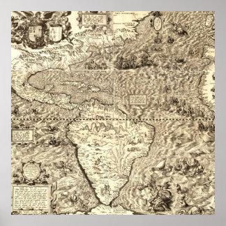 Carte du monde de l'Amérique par Diego Gutiérrez
