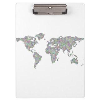 Carte du monde porte-bloc