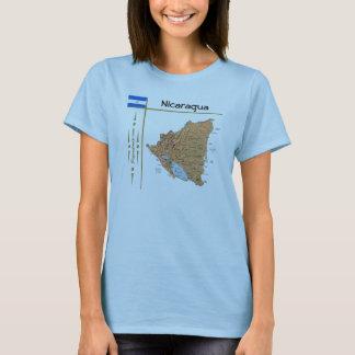 Carte du Nicaragua + Drapeau + T-shirt de titre