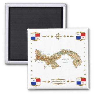 Carte du Panama + Aimant de bannières