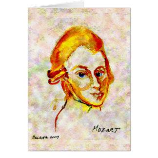 Carte du portrait un de Mozart
