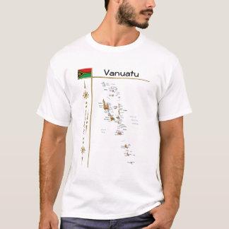 Carte du Vanuatu + Drapeau + T-shirt de titre