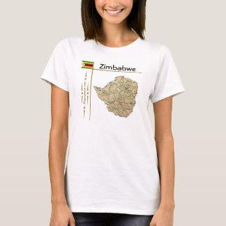 Carte du Zimbabwe + Drapeau + T-shirt de titre