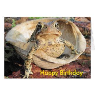 Carte D'un vieux crapaud à un autre joyeux anniversaire