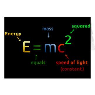 Carte E = MC^2. E égale MC carré