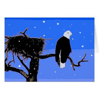 Carte Eagle chauve en hiver