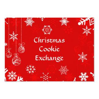Carte Échange de biscuit de flocons de neige de Noël