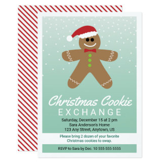 Carte Échange mignon de biscuit de Noël de bonhomme en