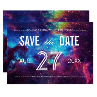 Carte Économies colorées de galaxie la date
