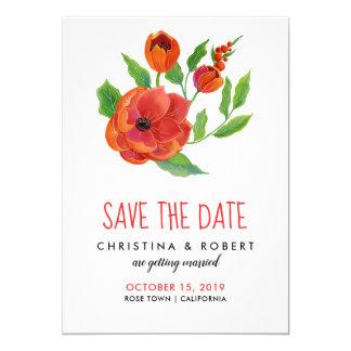 Carte Économies florales des pivoines rouges | la date