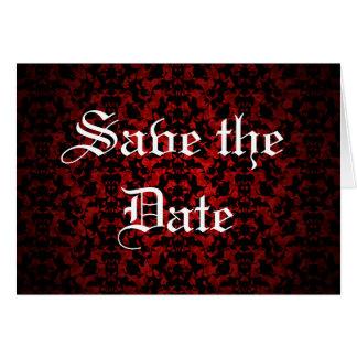 Carte Économies gothiques élégantes la date