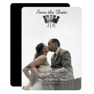 Carte Économies héraldiques élégantes de mariage de