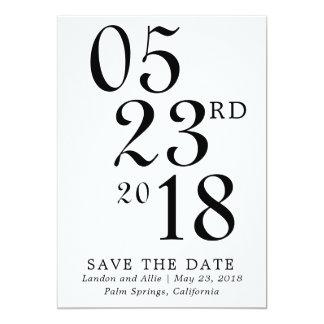 Carte Économies modernes de typographie la date