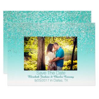 Carte Économies scintillantes de mariage de photo la