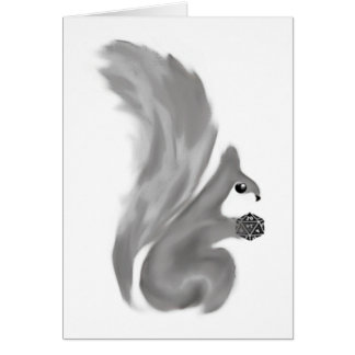 Carte Écureuils peints