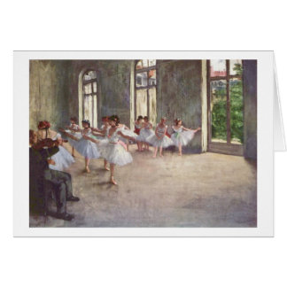 Carte Edgar Degas | la répétition de ballet