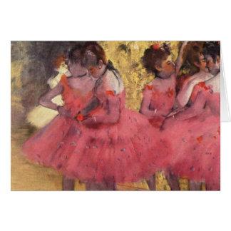Carte Edgar Degas les danseurs roses