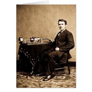 Carte Edison et son phonographe 1887